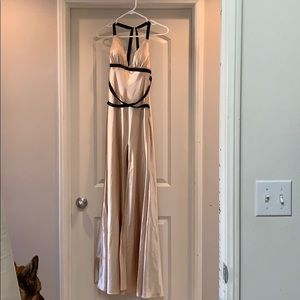 Dresses & Skirts - Gold with black straps floor length dress